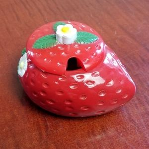 VINTAGE Strawberry sugar bowl with lid